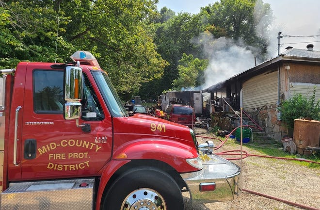 MCFPD was dispatched to a reported structure fire on Snyder Road located West of Camdenton at 2:24 p.m. on July 20.