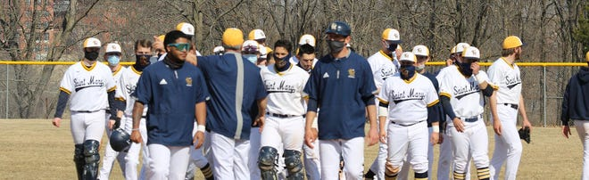 Shown is the University of Saint Mary baseball team during the 2021 season.