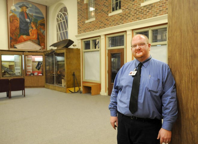 Andy Clark, director of the Monroe County Museum, is pictured.