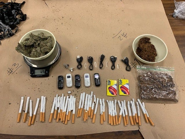 Contraband allegedly discovered in Oklahoma County jail