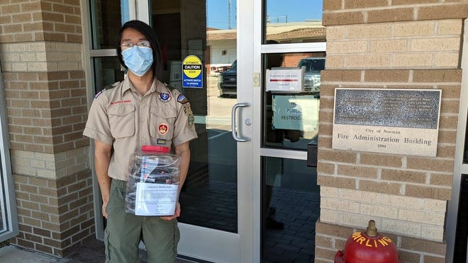 Joshua Khor recently earned the rank of Eagle Scout, demonstrating leadership to others in a service project benefiting city of Norman Emergency Management.