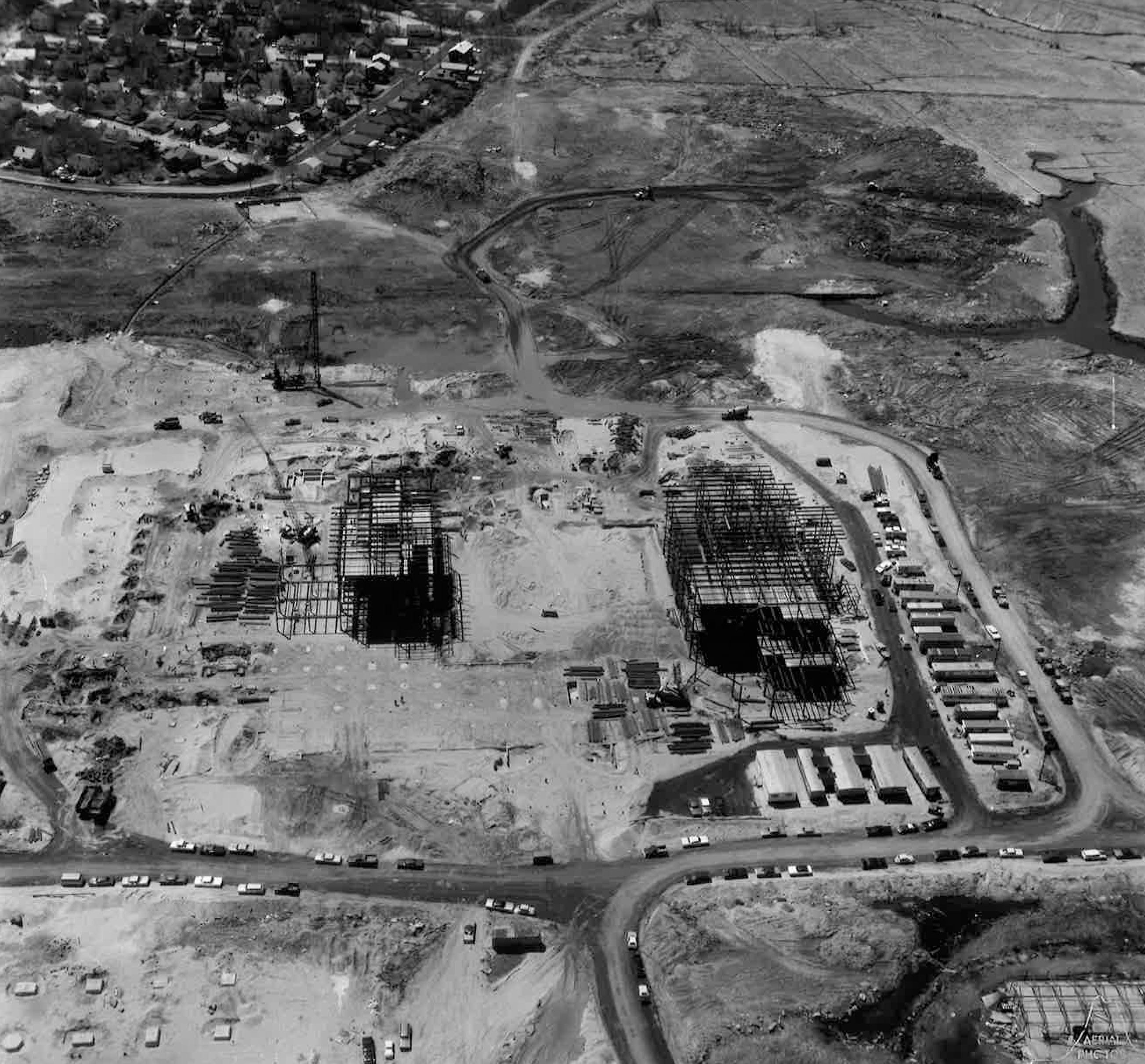 A May 5, 1971, photograph of the State Street South complex under construction.