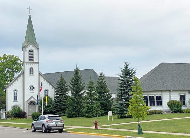 Holy Childhood Church is seen recently in Harbor Springs. The Holy Childhood boarding school for Native Americans previously stood near the church, closing down in the 1980s and undergoing demolition in 2007.