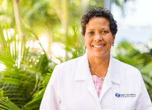 Registered nurse Carlene Sehon of the Health Care District of Palm Beach County.