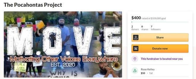 Quan Muhammad started an online campaign for The Pocahontas Project, a beautification project for one of the parks on the island, on GoFundMe.