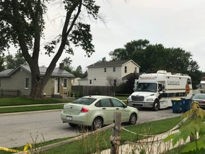 The St. Joseph County Metro Homicide Unit truck was on the scene of a double homicide in the 800 block of Burdette St. in Mishawaka on Wednesday, July 21.