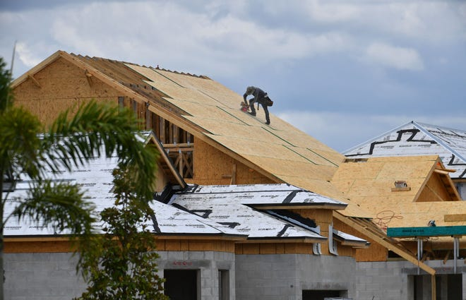 Homes under construction in the Lakehouse Cove at Waterside development in Lakewood Ranch. Lakewood Ranch has sold more homes this year than any community in the nation.