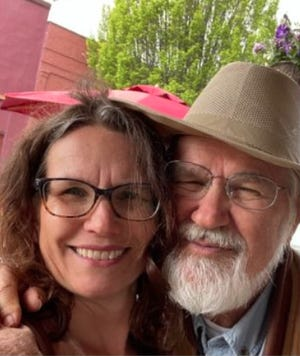 W. Wayne Chandler with his daughter, Sarah Giardino, in an undated photo before Wayne was hit by a car on Yreka's South Main Street on July 16, 2021.
