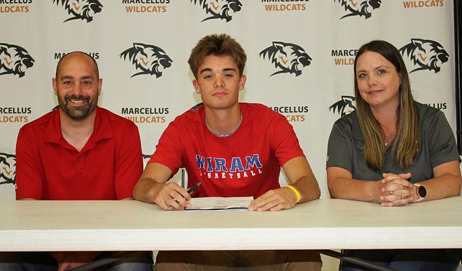 Gavin Etter of Marcellus will continue his academic and basketball careers with Hiram College beginning this fall.