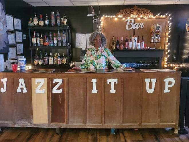 Inez Collins Holloway is pictured at her lounge, Jazz It Up, located at 1017B Broad Street in New Bern.