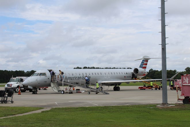 The Coastal Carolina Regional Airport hopes to add new flight that would bring $3 million in  direct expenditures to the area annually.