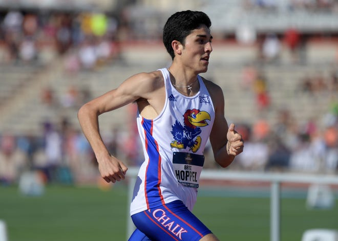 Former Kansas Jayhawks track star Bryce Hoppel is leaning on his family for support as he prepares to compete in the 2021 Olympics in Tokyo.