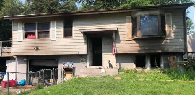 A fire just before 11 a.m. Wednesday did an estimated $45,000 damage at this house at 4031 S.E. Mercier.