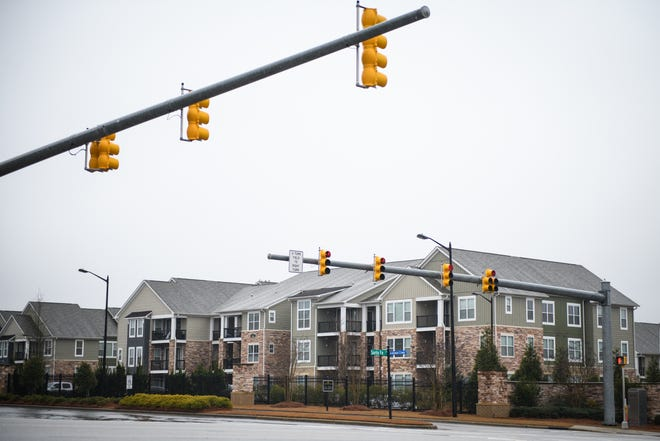 An apartment complex on Santa Fe Drive in Fayetteville on Monday, Jan. 25, 2021.