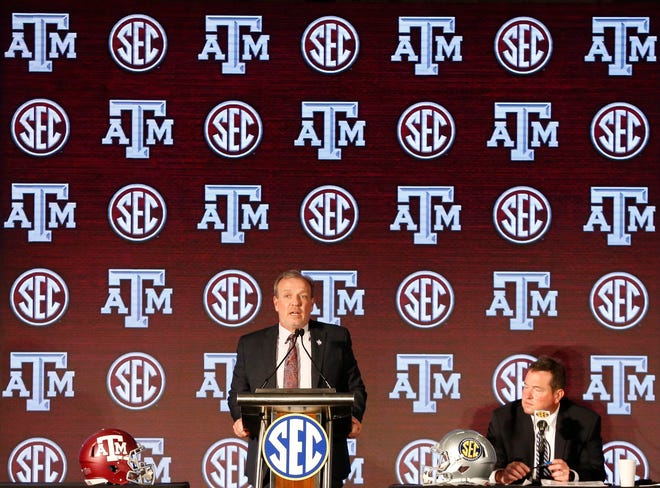 """At last week's SEC media days, Texas A&M head football coach Jimbo Fisher didn't back away from his recent comments about someday beating Alabama's Nick Saban. """"I don't have any regrets,"""" Fisher said. """"That's what we're here for, isn't it? Isn't that why everybody's here? That's what makes this league this league."""""""