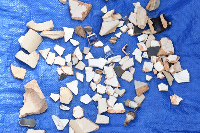 Broken pieces of ceramic were found at a site where the house of Gov. Joseph Marshall Walker could have been. Walker was the governor from 180-53. He died in 1856. His house was burned during the Civil War several years after he died.