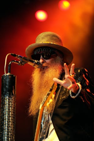 ZZ Top's Dusty Hill sings during the band's concert on Tuesday, Jan. 20, 2015, at the Taylor County Coliseum.