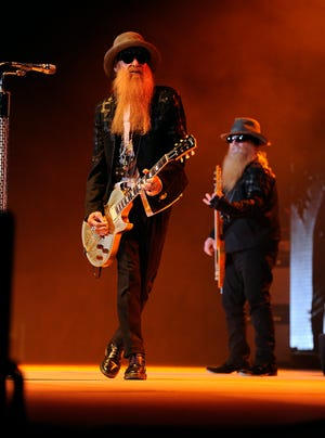 ZZ Top performs during the band's concert Jan. 20, 2015, at the Taylor County Coliseum.