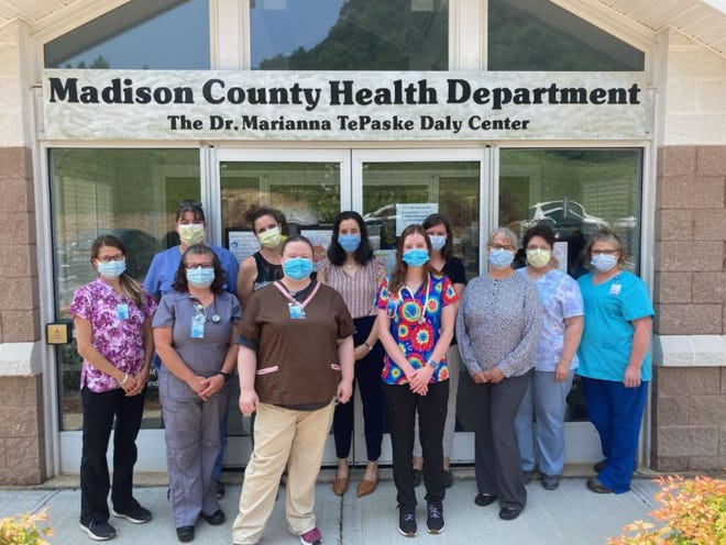 Madison County Health Department employees pose for a photo July 21.