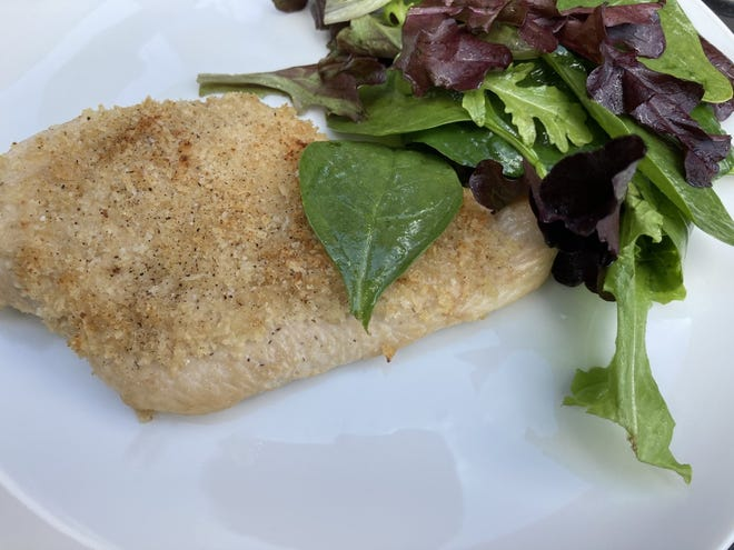Panko and Parmesan Encrusted Baked Chicken