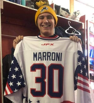 Vincent Marroni, a goalie with the Great Falls Americans NA3HL hockey club, died earlier this week in Michigan, just two months' shy of his 19th birthday.
