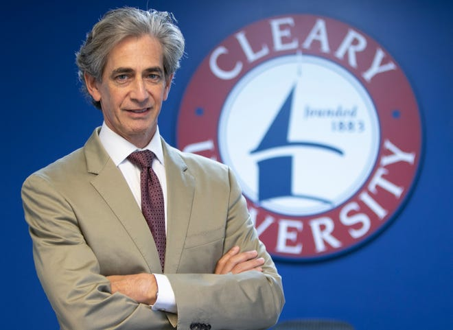 Dr. Alan Drimmer, shown Wednesday, July 21, 2021, is the new president of Cleary University.