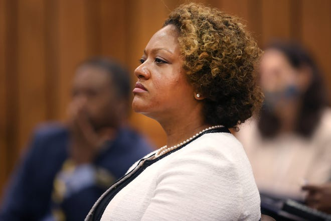 Michelle Taylor, the appointee for director of the health department, during a Shelby County Commission meeting on Wednesday, July 21, 2021.