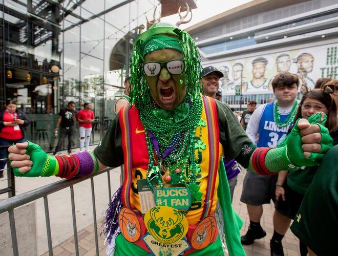 Milwaukee Bucks fans dress up for Game 6 of NBA Finals at ...