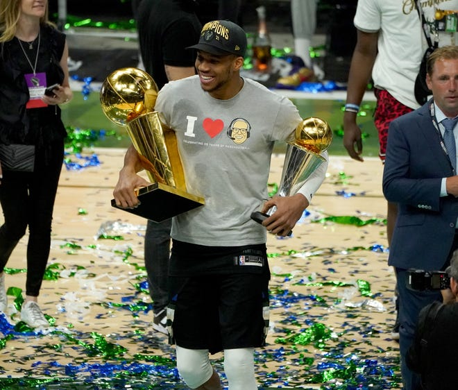 You can score a Giannis Antetokounmpo trophy bobblehead at the game on April 7.