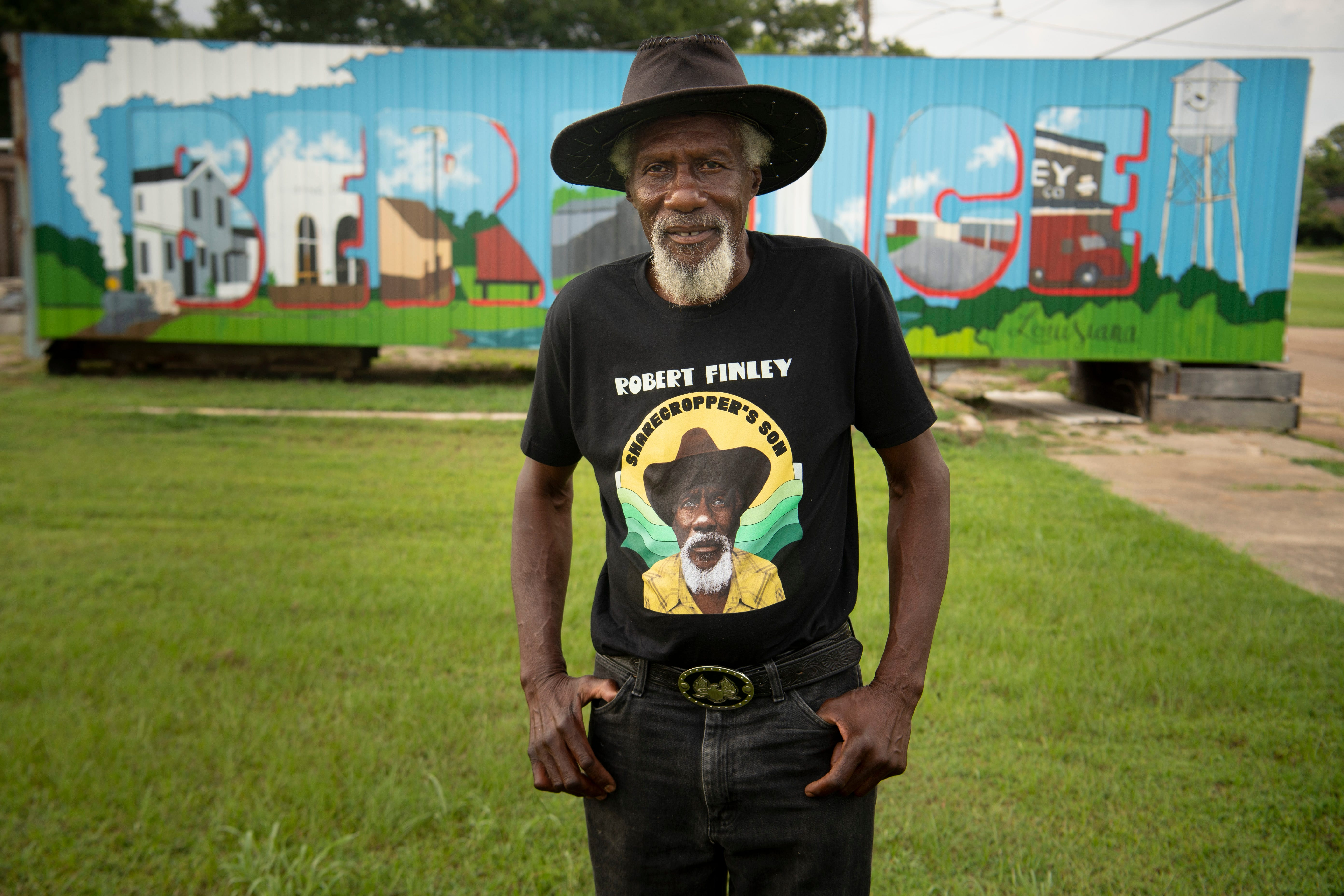 Robert Finley has lived in Bernice, Louisiana, for more than 30 years. The small town is just miles from the Arkansas border. Photographed July 16, 2021.