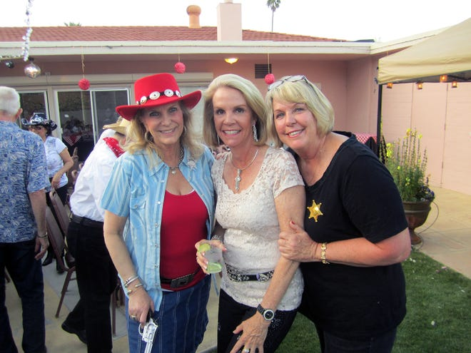 Jenny McLean, Bonnie Englund and Barbara Keane enjoy a party at the Palm Springs Women's Club.