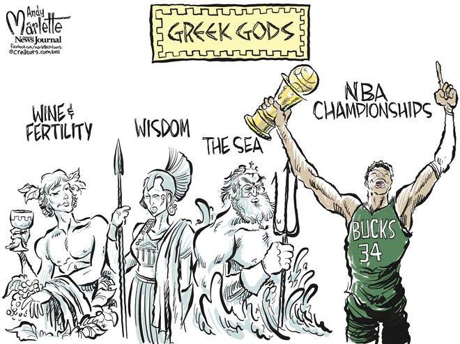 Marlette cartoon: Greek Freak becomes NBA Champ