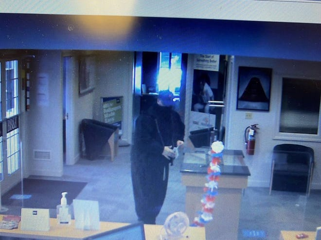 Penn Township Police released surveillance camera photos of a suspect who robbed the BB&T Bank at 1345 Baltimore St., Monday, July 19, 2021.