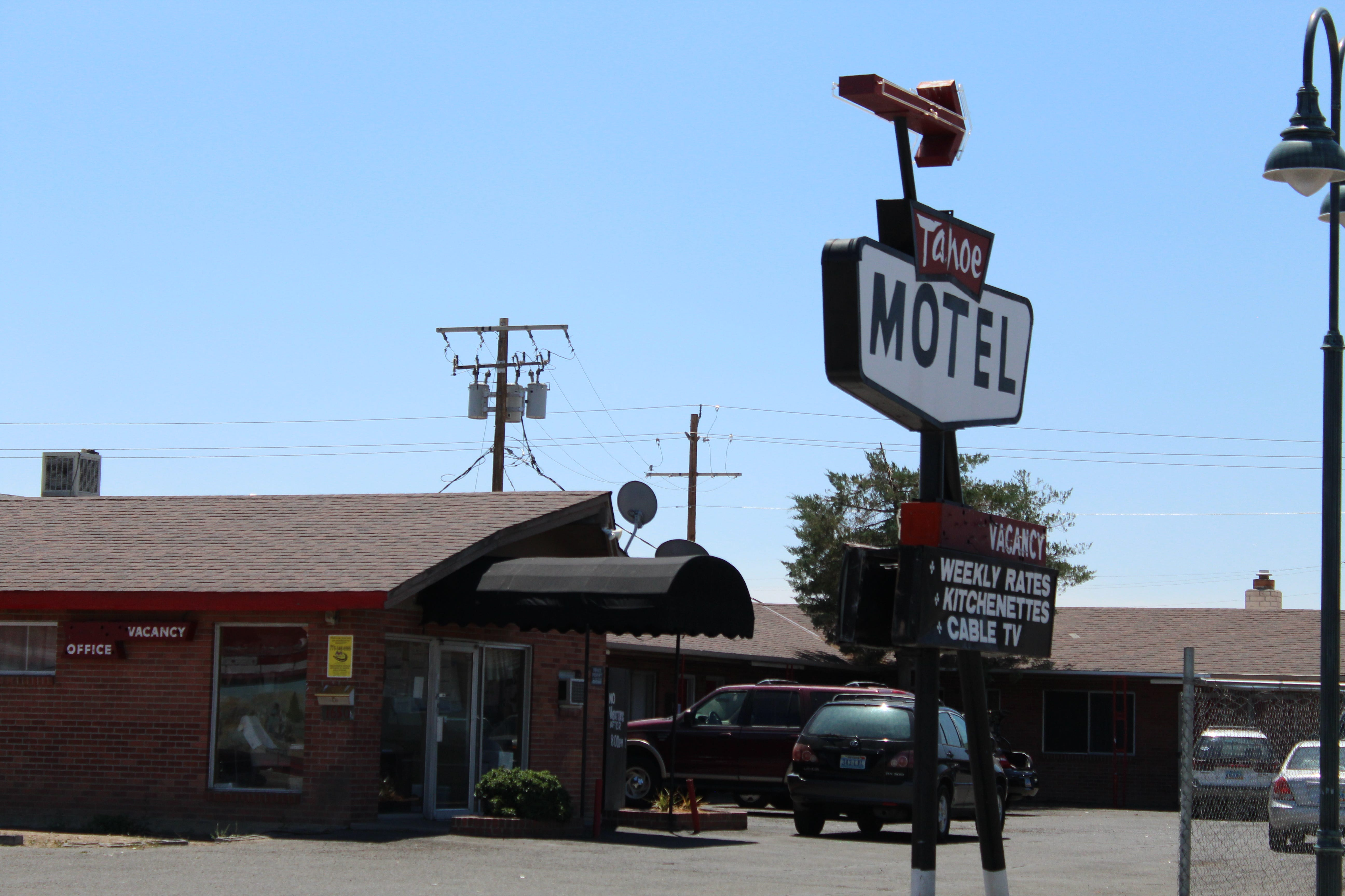 Tahoe Motel on E. 4th Street. Photo taken on July 21, 2021.