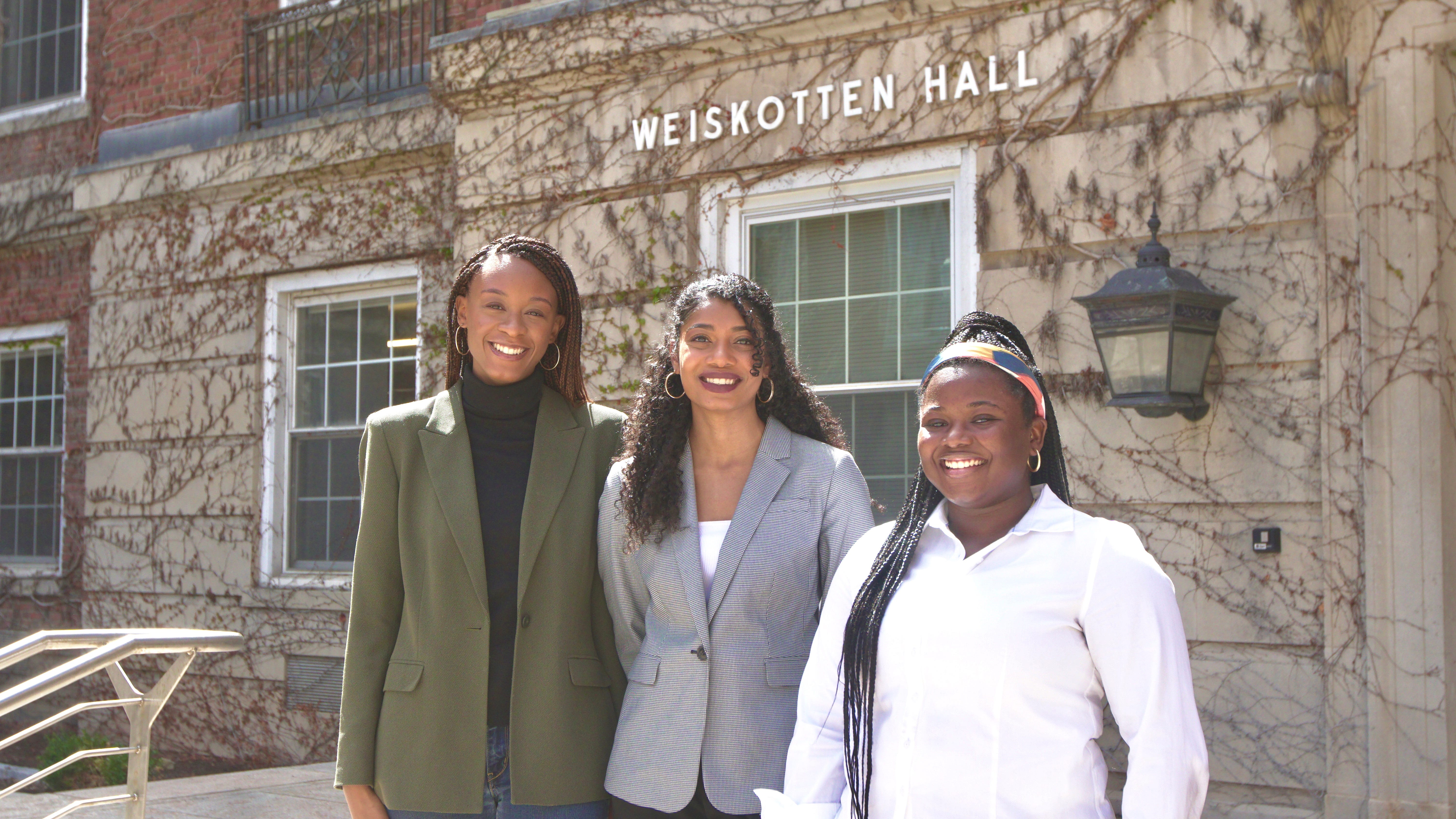 From left, Isabelle Thenor-Louis, Samantha Williams and Angelina Ellis, all medical students at Upstate Medical University, are promoting medical school diversity.