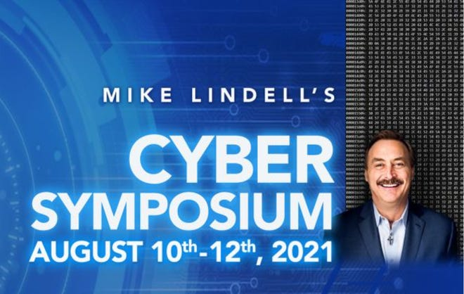 A logo for the cyber symposium