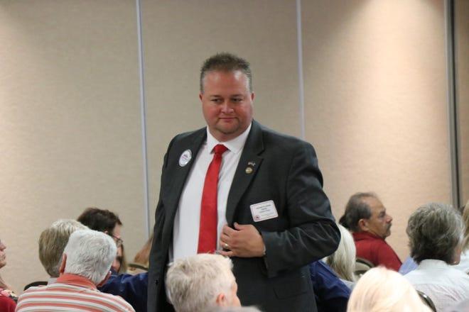Adam Snow walking around the WCRP meeting, July 20, 2021