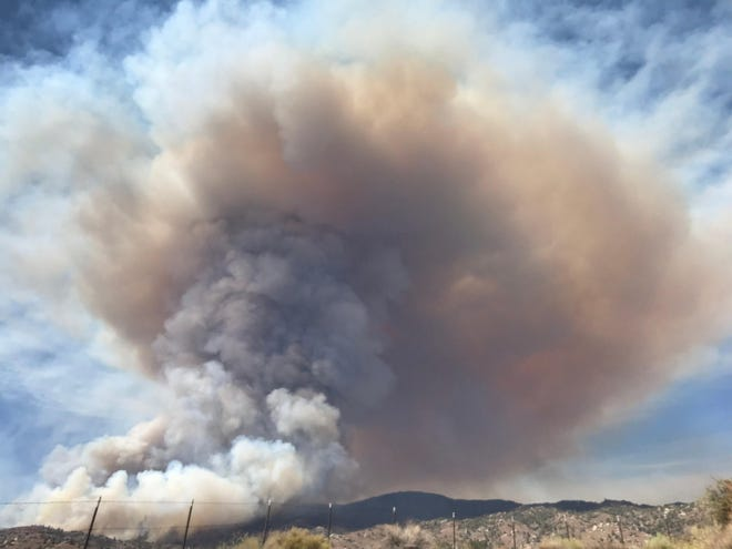 A photo of the Peak Fire on Wednesday, July 21, 2021.