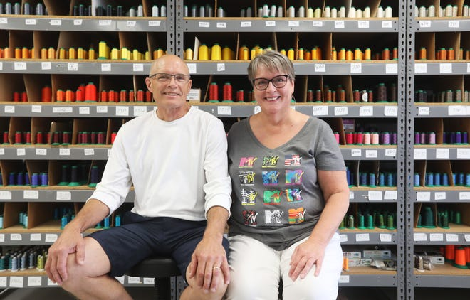 Tom and Monica Baughman own and operate Print Masters in Zanesville. They started the screen printing and embroidery company in 2004.