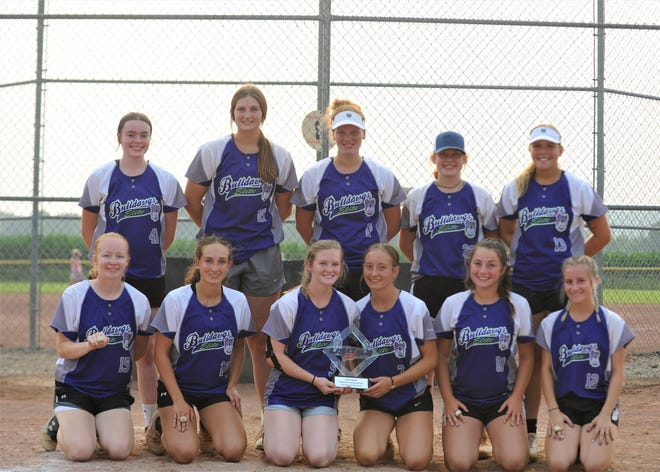 The Ohio Bulldawgs Elite 16U won the USSSA Southeast National tournament earlier this month. Pictured in the front row are (left to right): Jaimlynne Munson, Olivia Rapol, Bree Hilyard, Emma McPeek, Gracie Meredith, Camey Mohler. The back row featured (left to right): Casey Hanrahan, Abby Mann, Ashley Poling, Olivia Dishon and Keyona Murphy.