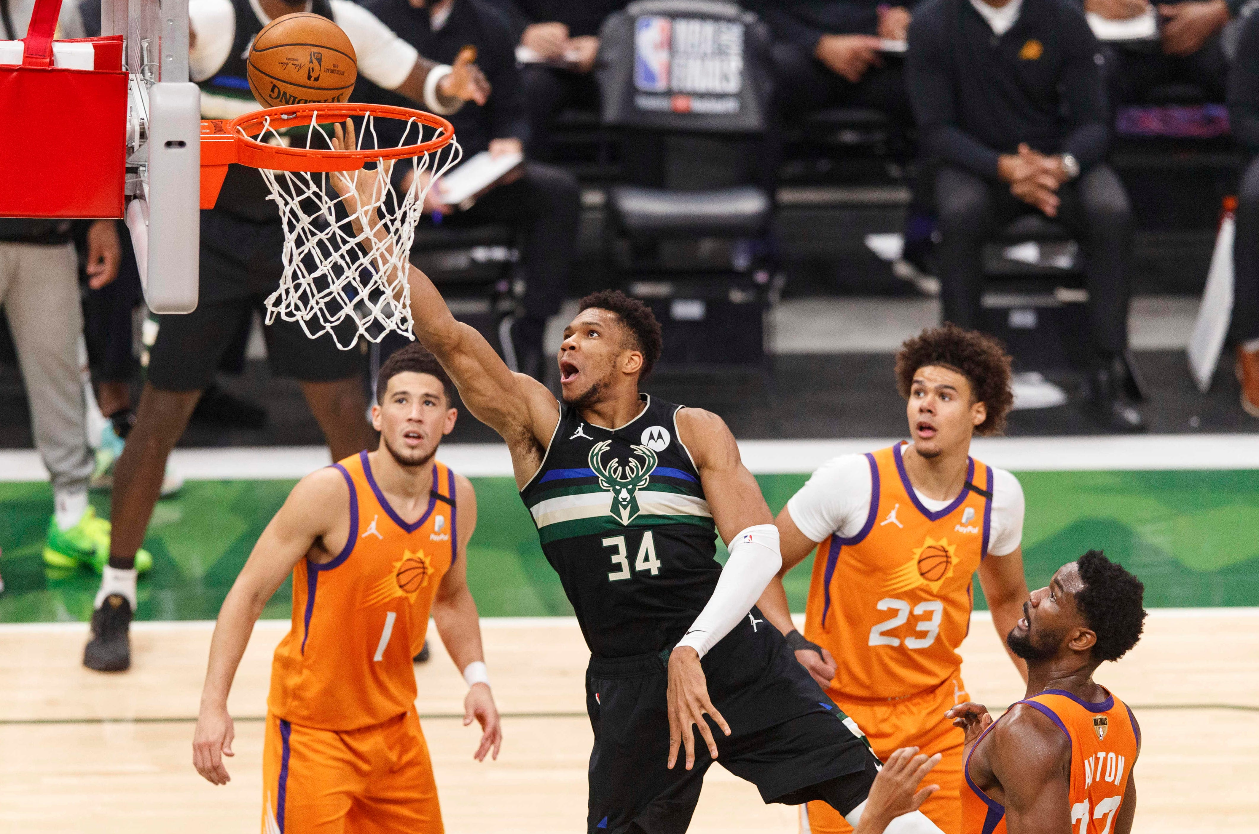 Milwaukee Bucks' Giannis Antetokounmpo is named MVP of NBA Finals