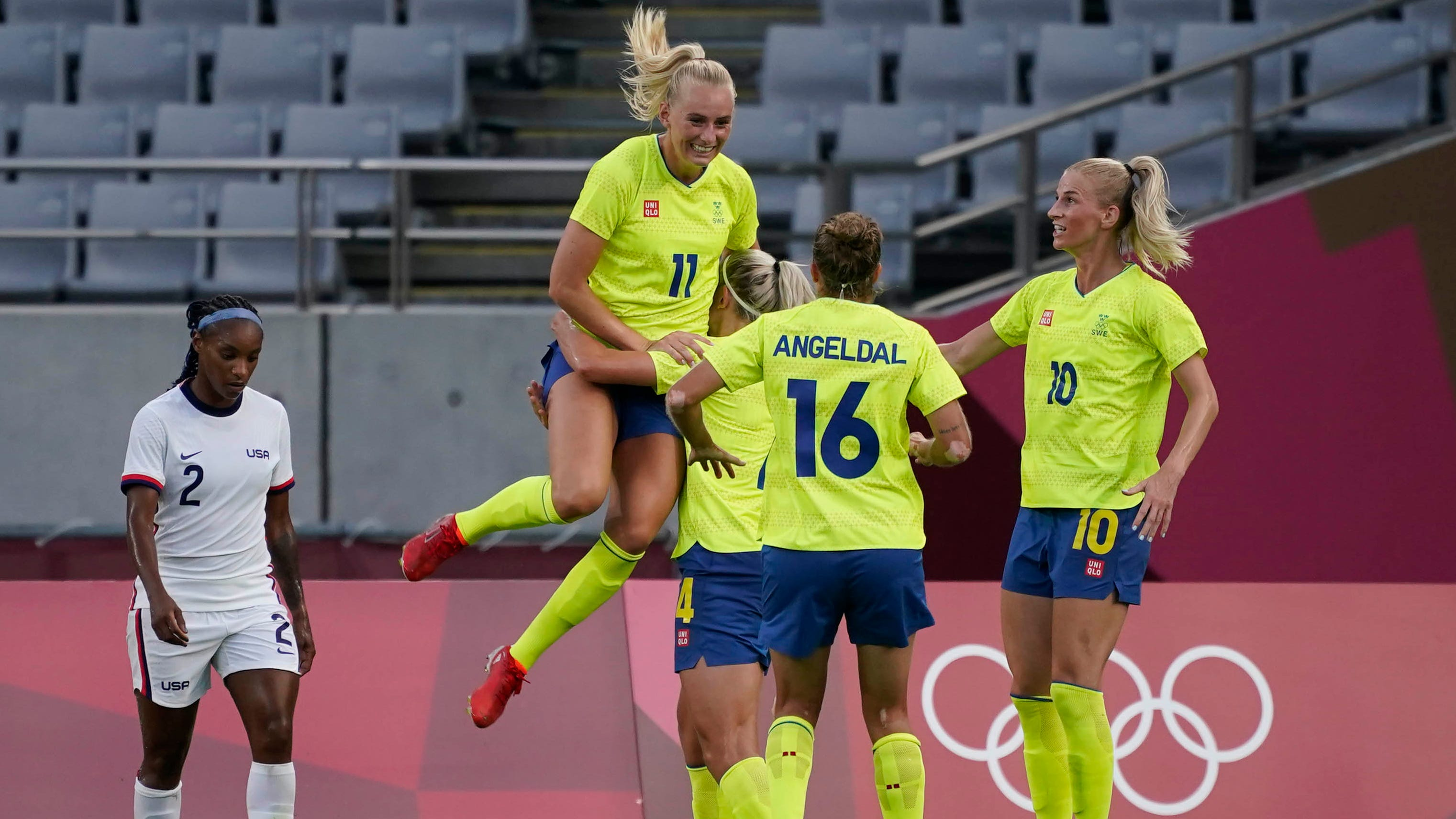 Sweden dominates USWNT in a 3-0 victory in their opener at Tokyo Olympics