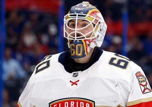 Goaltenders - Florida Panthers' Chris Driedger