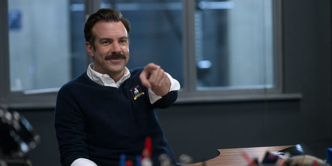 Jason Sudeikis returns as folksy, positive and motivating soccer coach Ted Lasso in Apple TV+'s sitcom.