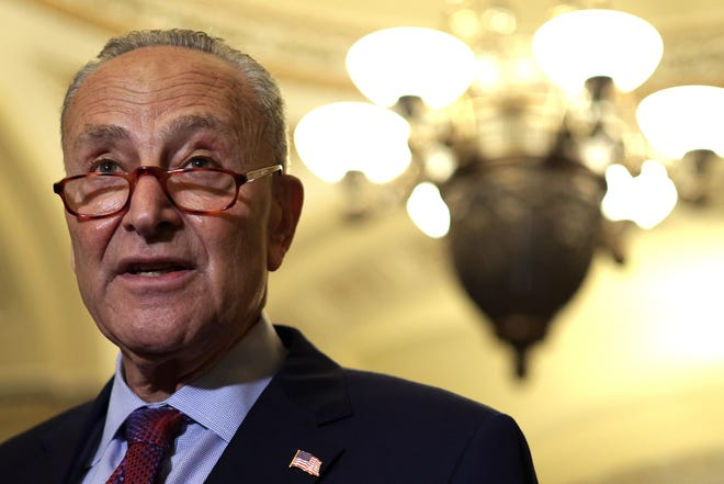 """Senate Majority Leader Sen. Chuck Schumer, D-N.Y., said he scheduled Wednesday's vote to push ahead talks that have already lasted a month. """"This vote is not a deadline to have every final detail worked out,"""" he said."""