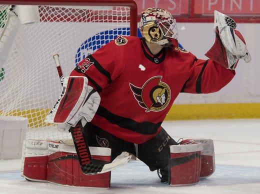 Ottawa Senators' Joey Daccord