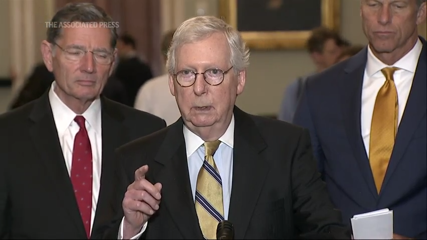Senator Mitch McConnell urges Americans to get vaccinated
