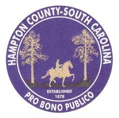 The official seal of Hampton County, S.C.