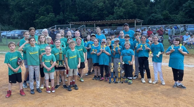 Pictured are the children's tournament champions, Deep Branch, who also earned first place in season play, and the tournament runner-ups, Pine Level. Varnville's children's team (not pictured) finished the regular season as runner-ups.