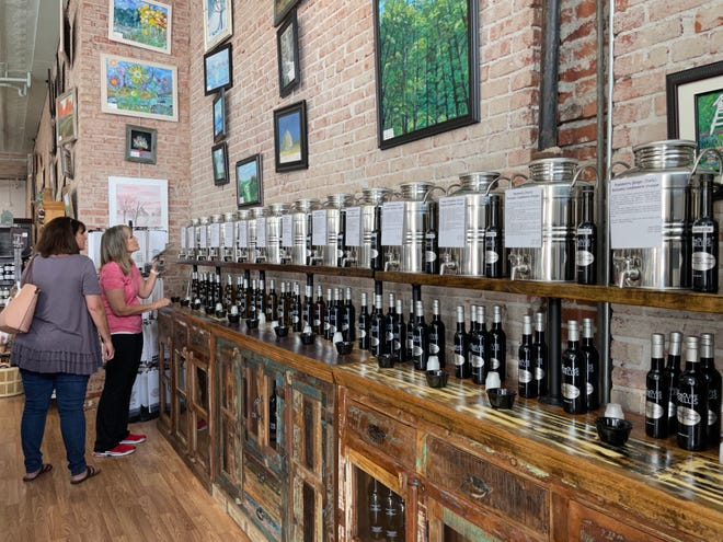 The store boasts the largest Olive Oil and Vinegar Bar in South Central Kansas.